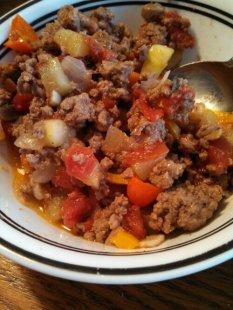 beef & veggie scramble