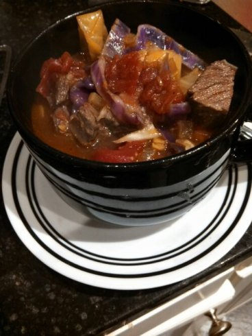 leftover roast beef & cabbage soup